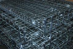 Cierre de la jaula del metal para arriba Fotos de archivo