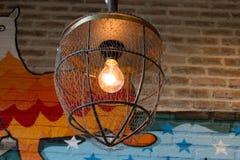 Cierre de la lámpara de Diy para arriba Imagenes de archivo