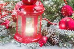 Cierre de la linterna de la Navidad para arriba Imagen de archivo
