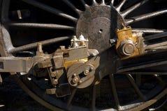 Cierre de la locomotora de vapor para arriba imágenes de archivo libres de regalías