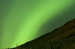 Cierre de la luz septentrional para arriba imagen de archivo libre de regalías