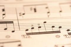 Cierre de la música de hoja para arriba Imagen de archivo libre de regalías