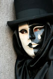 Cierre de la mascarada de Carnivale para arriba Imagen de archivo libre de regalías