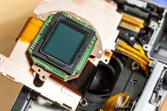 Cierre de la matriz del sensor de la cámara para arriba fotos de archivo libres de regalías
