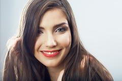 Cierre de la muchacha del adolescente de la belleza encima del retrato Foto de archivo