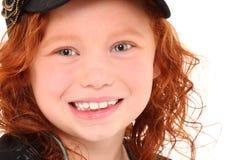 Cierre de la muchacha del jengibre para arriba Foto de archivo libre de regalías