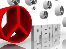 Cierre de la muestra de paz ascendente y otros stock de ilustración