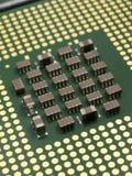 Cierre de la opinión del cuarto de la perspectiva de la CPU para arriba Fotografía de archivo libre de regalías