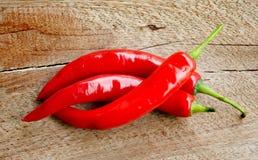 Cierre de la pimienta de chiles rojos para arriba Imagen de archivo