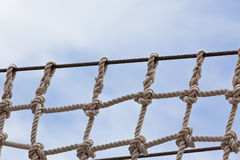 Cierre de la red de seguridad del yate para arriba foto de archivo libre de regalías
