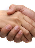 Cierre de la sacudida de la mano para arriba Foto de archivo libre de regalías