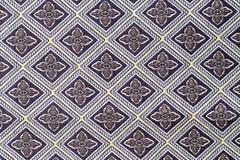 Cierre de la superficie de la manta del estilo de Tailandia encima de la tela del vintage Imagen de archivo libre de regalías