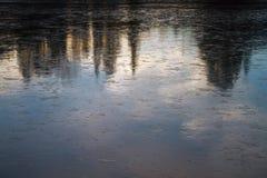 Cierre de la superficie del hielo para arriba imagenes de archivo