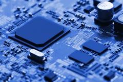 Cierre de la tarjeta de circuitos electrónicos para arriba Fotos de archivo