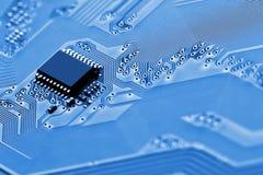 Cierre de la tarjeta de circuitos electrónicos para arriba Imagenes de archivo