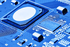 Cierre de la tarjeta de circuitos electrónicos para arriba Imagen de archivo libre de regalías