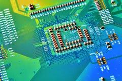 Cierre de la tarjeta de circuitos electrónicos para arriba Imagen de archivo