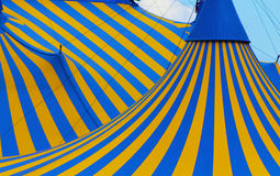 Cierre de la tienda de Cirque encima de Montreal Imagenes de archivo