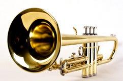 Cierre de la trompeta imagen de archivo
