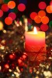 Cierre de la vela de Christmad para arriba Imagen de archivo