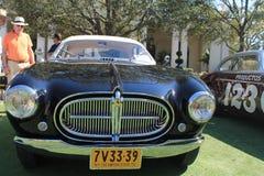 Cierre de la vista delantera de Ferrari de los años 50 del vintage para arriba Fotografía de archivo
