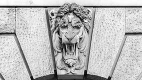 Cierre de Lion Keystone para arriba Imagen de archivo