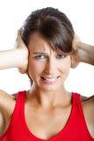 Cierre de los oídos Imagen de archivo libre de regalías