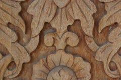 Cierre de madera tallado de la pared Imagenes de archivo