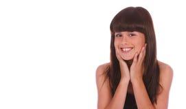 Cierre de moda de la muchacha encima de 3 Imagen de archivo libre de regalías