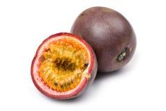 Cierre de Passionfruit para arriba Imagen de archivo libre de regalías