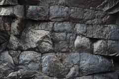 Cierre de piedra crudo de la textura para arriba Fotos de archivo