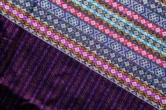Cierre de seda de la artesanía para arriba, diseño de la moda de la tela Fotografía de archivo libre de regalías