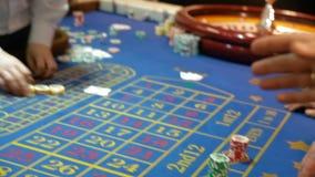 Cierre de Tablr del casino para arriba almacen de metraje de vídeo