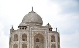 Cierre de Taj Mahal encima del tiro Imagenes de archivo