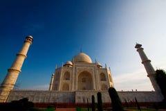 Cierre de Taj Mahal para arriba Imagenes de archivo