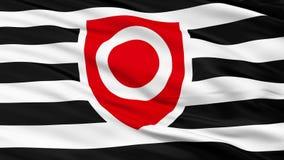 Cierre de Tanos para arriba que agita la bandera ilustración del vector
