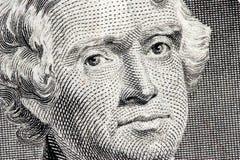 Cierre de Thomas Jefferson para arriba Imagenes de archivo