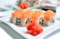 Cierre de Toyama del sushi para arriba imagen de archivo libre de regalías