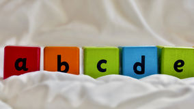 Cierre del ABC de los bloques de los niños Fotografía de archivo libre de regalías