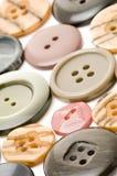 Cierre del botón de la alineada para arriba Imagen de archivo libre de regalías