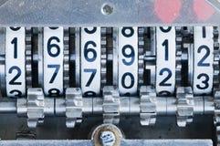 Cierre del contador mecánico para arriba Imágenes de archivo libres de regalías