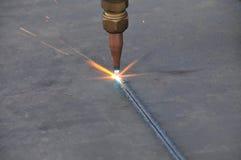 Cierre del corte de gas de la hoja de metal para arriba Foto de archivo libre de regalías