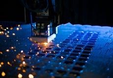 Cierre del corte del laser para arriba Fotografía de archivo