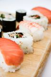 Cierre del disco del sushi para arriba Imagen de archivo