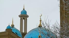 Cierre del exterior del tejado de la mezquita para arriba almacen de metraje de vídeo