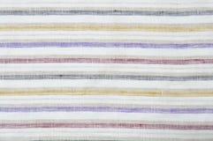 Cierre del fondo de la tela de las rayas para arriba Imagen de archivo libre de regalías