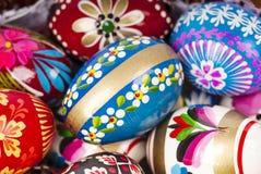 Cierre del fondo de los huevos de Pascua para arriba Foto de archivo libre de regalías