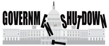 Cierre del gobierno del capitolio del Washington DC stock de ilustración
