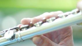 Cierre del jugador de flauta para arriba almacen de video