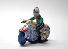 Cierre del juguete del vintage de la moto para arriba fotos de archivo